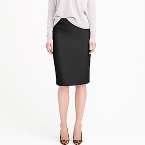 J.CREW NO. 2 PENCIL SKIRT BLACK WOOL SZ 12